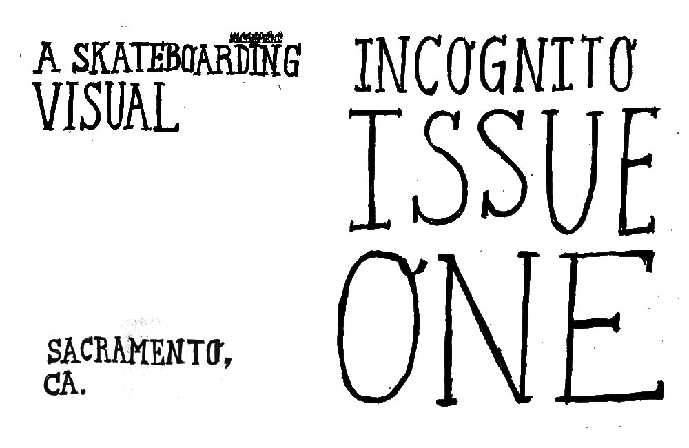 Incognito Issue One Splash Page